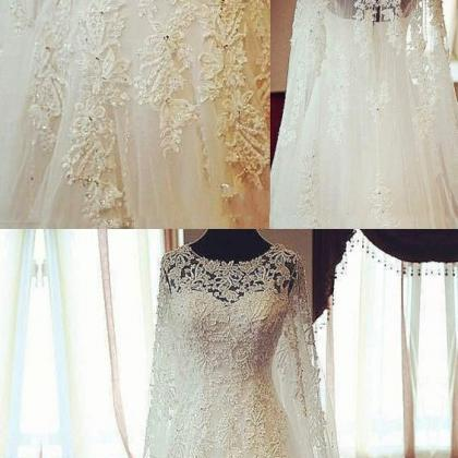Gorgeous Scoop Long Sleeves Bridal ..
