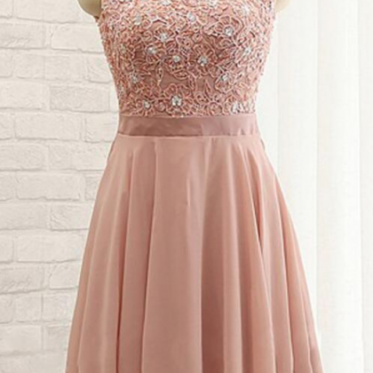 Chiffon Homecoming Dress,High Neck ..