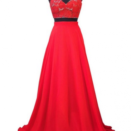 elegant lace African red Prom Dress..