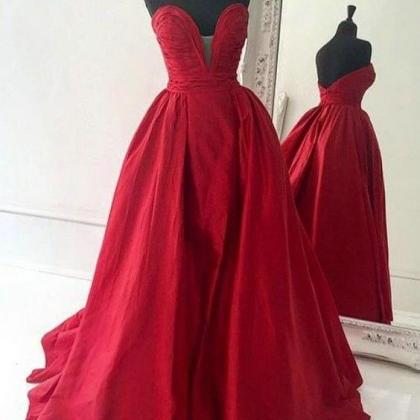 Red Prom Dresses,Backless Prom Dres..