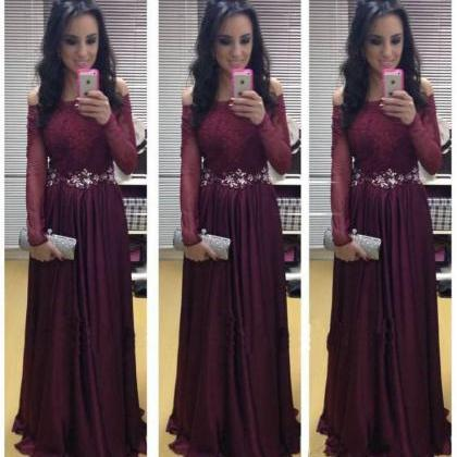 Burgundy Prom Dresses,Fashion Eveni..