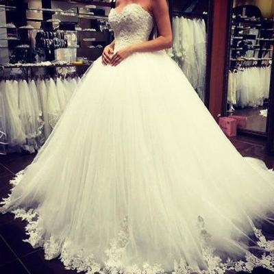 Wedding Dress,Wedding Dresses,Sweetheart Lace Wedding Dresses,Tulle Wedding Dresses,Cheap Wedding Dresses,Ball Gowns Wedding Dresses