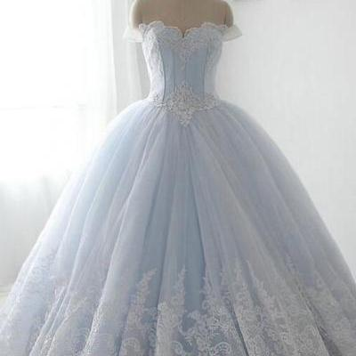 Sparkly Gorgeous Long Prom Dresses,Quinceanera Dresses,Modest Prom Dress For Teens,Light Sky Blue Prom Gowns