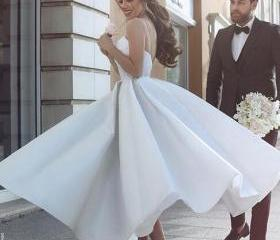 Short Wedding Dress,..
