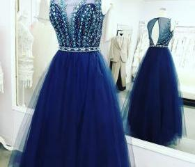 Royal Blue Tulle Bea..