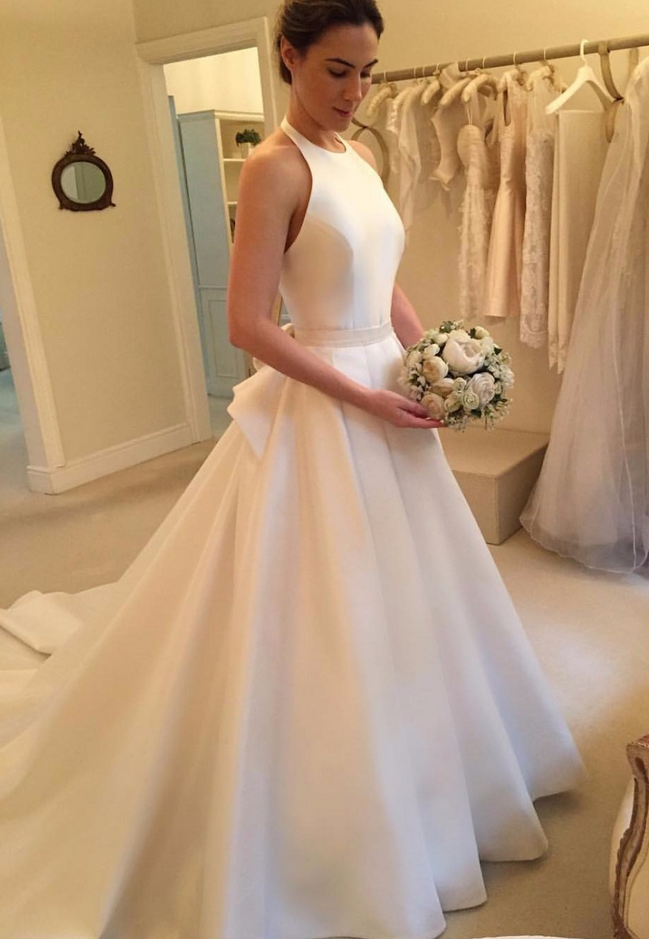 Modern Wedding Dresses,Halter Bridal Dresses, Satin Wedding Dresses ...