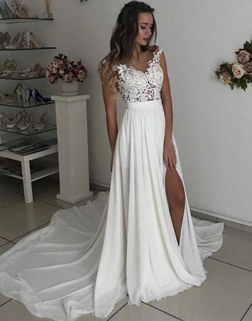 Chiffon Wedding Dress,Bridal Dresses,Beach Wedding Dresses,Summer ...