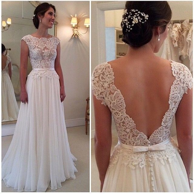 Wedding dress backless wedding dresses elegant wedding dresses wedding dress backless wedding dresses elegant wedding dresses lace wedding gown ivory a line wedding gowns chiffon bridal dresses junglespirit Choice Image