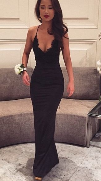 b57bce925b98 Hot Sell Spaghetti straps prom Dress,Sexy Black lace sexy evening gown  mermaid Prom dresses For New Teens,cheap Sexy Backless Prom Dresses,Beading  Evening ...