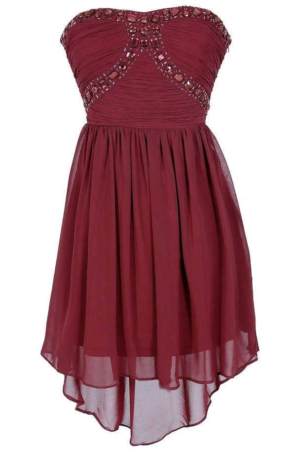 Sweetheart High Low Bridesmaid Dress Homecoming Dresses For Juniors