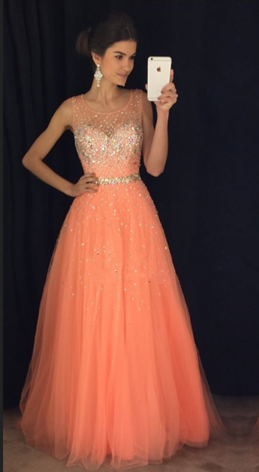 aa322cff38e5 New Arrival Prom Dress,Modest Prom Dress,coral prom dresses,cap sleeves prom  gowns,long evening dress,beaded prom dresses,Sexy Prom Dresses,Sparkle Prom  ...