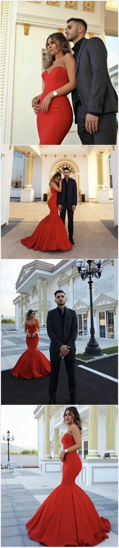 Red Chic Sweetheart Mermaid Prom Dress,Long Prom Dresses,Cheap Prom Dresses, Evening Dress Prom Gowns, Formal Women Dress