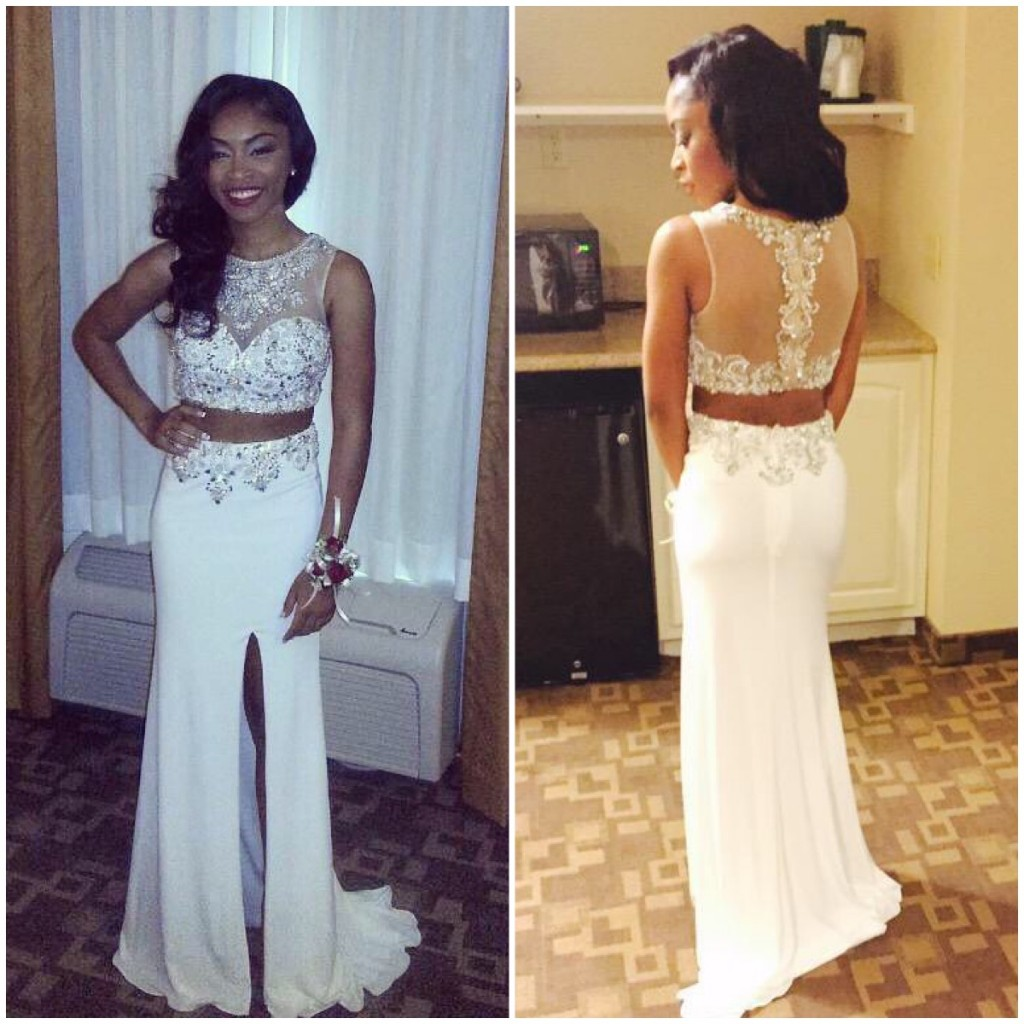0498290c87d 2 Piece Prom Gown