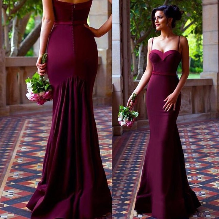 Burgundy Satin Sexy Sweetheart Special Occasion Dress Bridesmaid Dresses Off The Shoulder Wedding Party Dresses Formal Bridesmaid Dresses