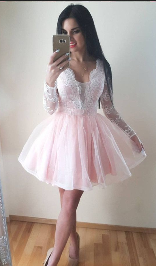 ab8b2c8d348 Pale Pink Homecoming Dress