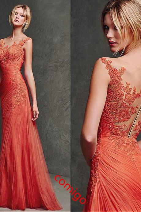 Prom Dress ,Junoesque Prom Dress , Tulle Prom Dress ,Bateau Prom Dress , Mermaid Prom Dress , Long Prom Dress ,Cheap Evening Dress ,Handmade Party Dress,Custom Made Prom Dress, Vogue Prom Dresses,Dress For Prom,Unique Prom Dress,Prom Dress