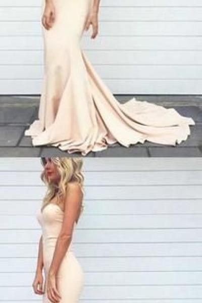 long prom dresses,mermaid prom dress,Charming Prom Dress,blush pink prom gowns,Floor Length Prom Dress,Evening Gowns