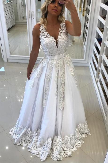 A-Line Wedding Dress,Long Wedding Dresses,Bridal Dresses,Bridal Dress, Evening Dresses,Prom Gowns, Formal Women Dress