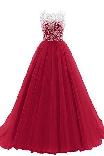 Prom Dresses,Maroon Long Prom Dress,prom dresses,lace evening gowns,white lace prom gowns,evening dress,Tulle party gowns,burgundy prom gowns
