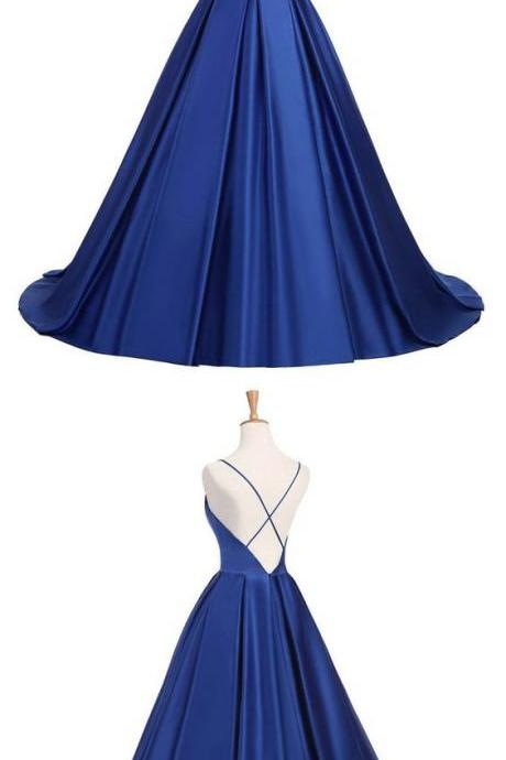 elegant prom party dresses, simple v-neck ball gowns , fashion evening dresses