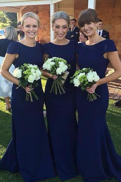 Long Sleeve Bridesmaid Dresses, Mermaid Long Bridesmaid Dress, Elegant Lace Bridesmaid Dresses, Wedding Guest Dress, long bridesmaid dress, dress for wedding, wedding party dress, Royal blue bridesmaid dress, simple short sleeve bridesmaid dress, cheap mermaid bridesmaid dreess, elegant simple bridesmaid dress, long bridesmaid dress,