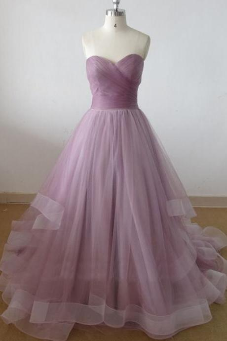 sweetheart tulle prom dresses, long prom dress, cheap prom dresses, prom dresses, elegant prom dresses, Bridal Gowns prom dresses,custom prom dresses