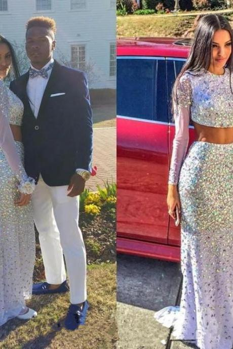 Luxury Prom Dresses,Two Piece Prom Dress,Beaded Evening Dresses,Sequin Prom Dress,Sparkle Prom Dress,Hot Style Prom Dress,Mermaid Prom Dress,Long Sleeve Prom Dress,Party Dresses,girls party dress, White sexy prom Dresses,homecoming dress , cheap long sexy prom dress .