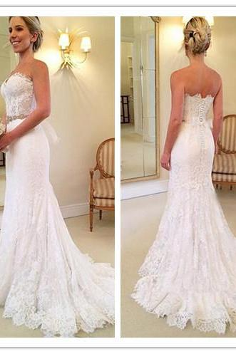 Lace Wedding Dresses, Beautiful Wedding Dress, Sweetheart Wedding Dress, White Wedding Dress, Lace Wedding Dress, Popular Wedding Dress, Crystal Wedding Dress, Long Bridal Gown for Women