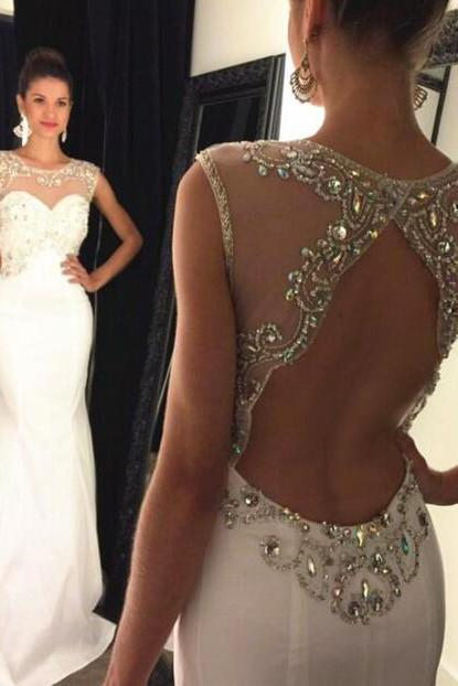 Mermaid Long Prom Dresses Beaded Bodice Keyhole Back,lace Evening Dress,Prom Dresses,Chiffon Prom Dresses,Prom Dresses A-line,Pink Chiffon Prom Dresses,V-neck Formal Gowns,Prom Dresses with Appliques