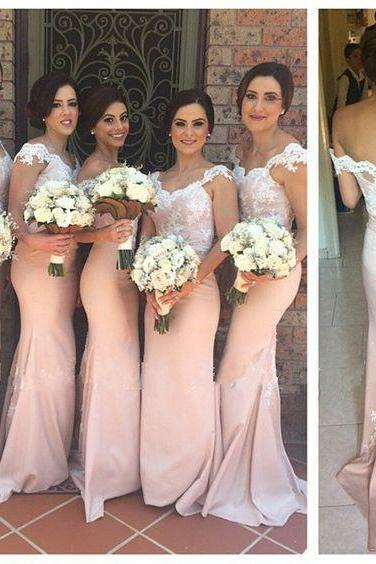 Long Mermaid bridesmaids Dresses Lace Straps,lace bridesmaids dresses,sexy mermaid bridesmaids dresses