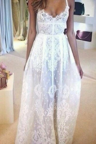 A Line Long Lace Prom Dresses, A Line Long Lace Wedding Dresses, Dresses for Prom