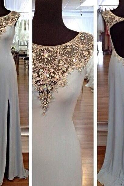 Luxury beads Prom Dresses,Custom Made A Line Floor Length Prom Dresses, Cheap Formal Dresses, Cheap Evening Dresses,Homecoming party Gowns,Custom Made Evening Dress,Vestido de Noiva, Wedding Guest Dress