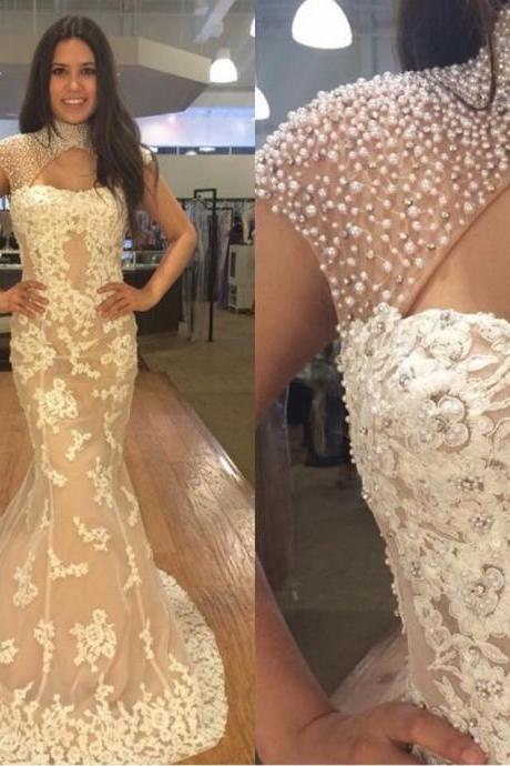 Charming Prom Dresses,A-Line Applique Prom Dress,Lace Prom Dress ,Lace Tulle Prom Dresses,Prom Dress,Graduation Dress,Long Evening Dress,Party Dress Dresses,Custom Made Evening Dress,Vestido de Noiva, Wedding Guest Dress