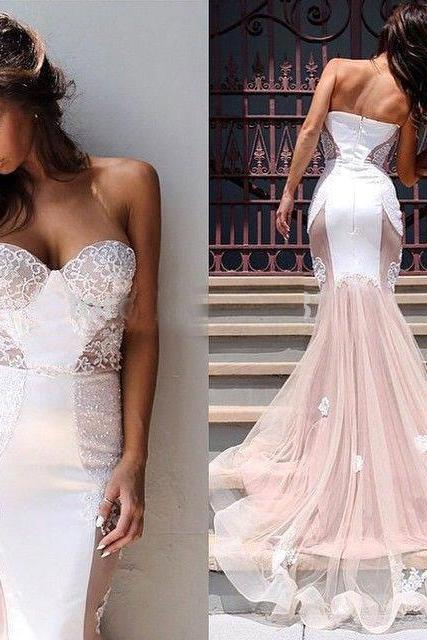 Prom Dress with Sleeveless ,Spaghetti Straps Prom Dress,Custom Made Evening Dress,Vestido de Noiva, Wedding Guest Dress
