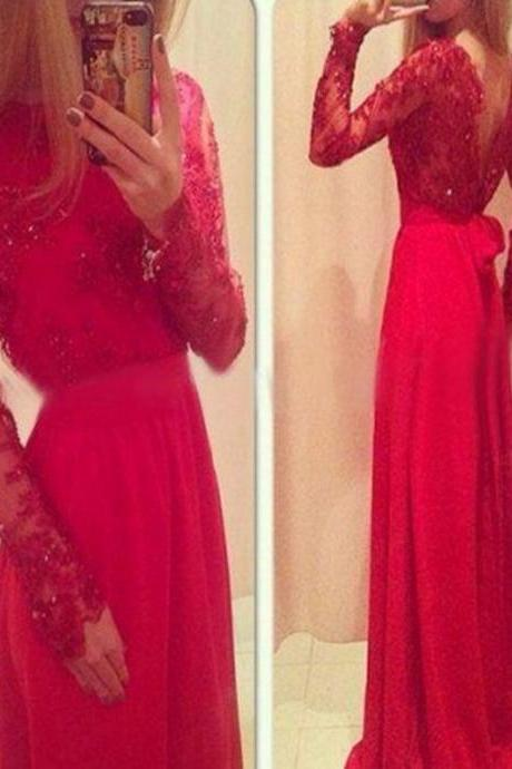High Quality red Prom Dresses,Charming Prom Dress,Long Sleeve Prom Dress,Lace Prom Dress,A-Line Prom Dresses,Formal Gowns Plus Size, Cocktail Dresses, formal dresses,Wedding guests dresses