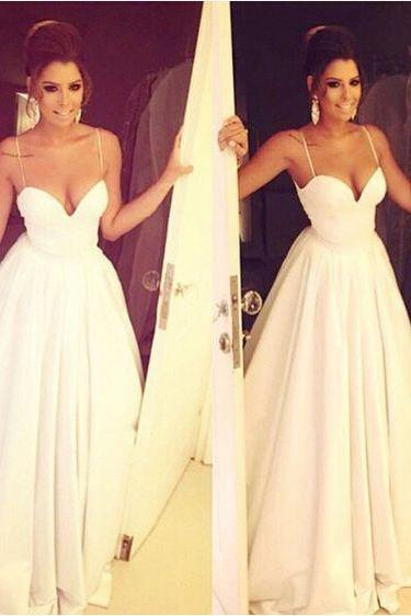 Charming White Wedding Dresses,Sexy Spaghetti Straps Bridal Dresses,Strapless Wedding Dresses,Long Prom Dresses,Cheap Prom Dresses, Evening Dress Prom Gowns, Formal Women Dress,Prom Dress, See Through Evening Dress,Prom Dresses, Cocktail Dresses, formal dresses,Wedding guests dresses