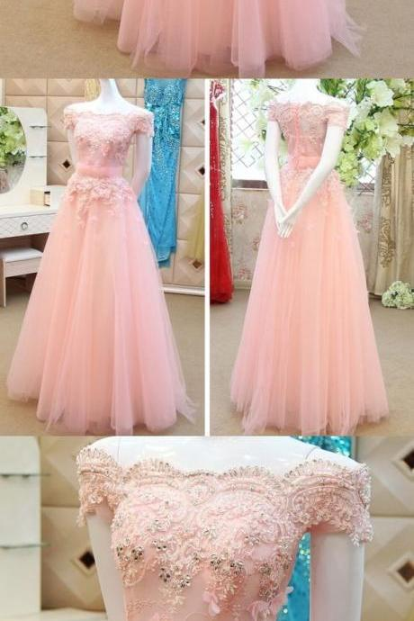 cheap prom dresses, Party dresses,Long Evening Dresses, A-line Prom Dress, Off-the-shoulder Prom Dress
