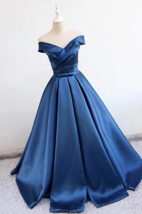 A Line Prom Dresses, Sexy Navy blue Evening Dress,Evening Dresses,Long Prom Dresses, Formal Evening Gown