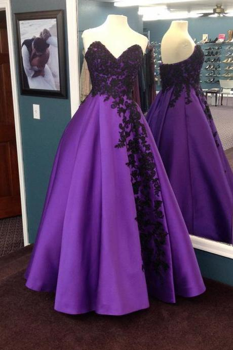 Sexy Sleeveless Prom Dress, Sweetheart Long Prom Dresses, Appliques Evening Dress,Long Prom Dresses, Formal Evening Gown