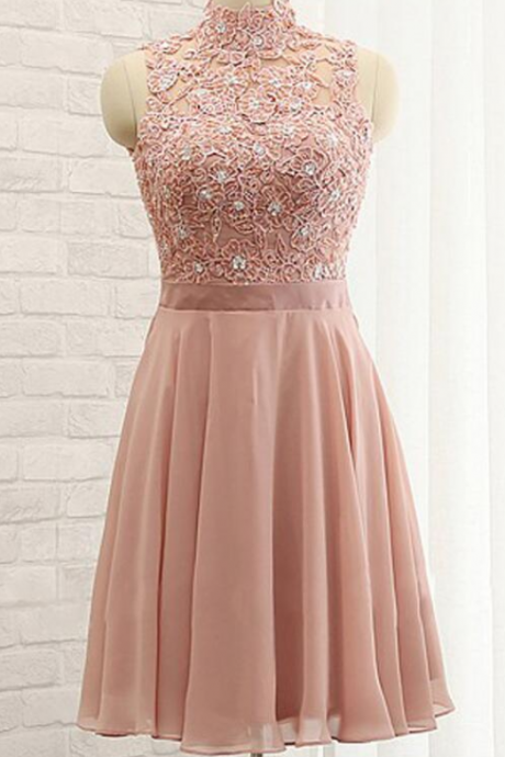 Chiffon Homecoming Dress,High Neck Prom Dresses,Sleeveless Homecoming Dress,Stylish Homecoming Dresses,A-Line Homecoming Dress,Sexy Prom Dresses,Sparkle Prom Dresses