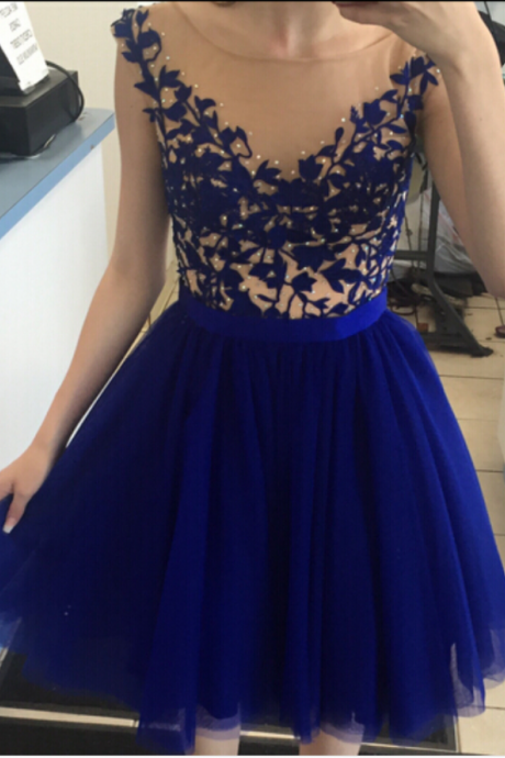 Navy Blue Tulle Homecoming Dress,Short Cheap Homecoming Dresses,Juniors Homecoming Dresses