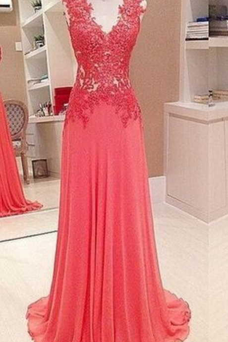 prom dresses, lace prom dresses, v neck prom dresses, formal prom dresses,Evening Gowns,Formal Dress