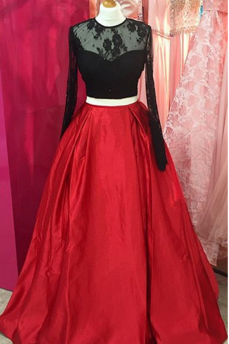 Long Sleeves Prom Dresses Ball Gowns Open Back Evening Formal Party Gowns For Women,Charming Prom Dress, Sexy Prom Dresses,Lace Evening Dress