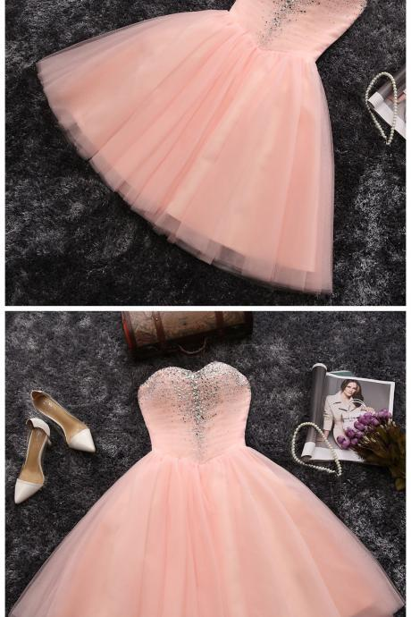 Charming Pink Homecoming Dresses, Party Dresses,cute Homecoming Dresses, Cheap Homecoming Dresses, Juniors Homecoming Dresses