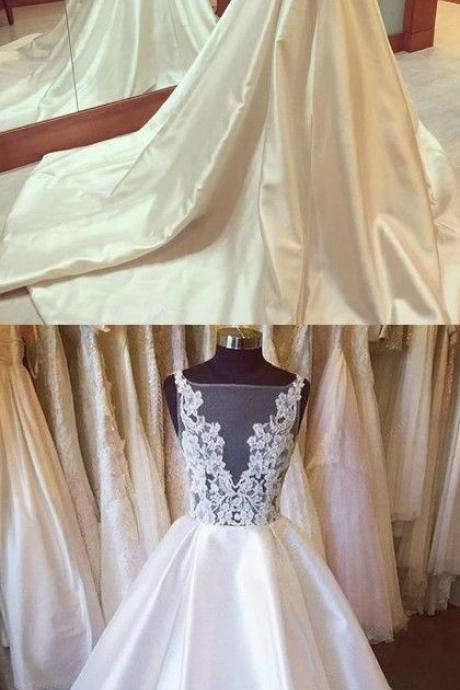 Long Wedding Dresses,Wedding Gown,Princess Wedding Dresses,Lace Beautiful Wedding Dress brides dress