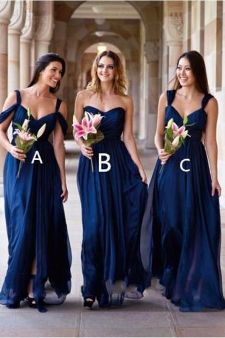 Classic A-Line Sweetheart Bridesmaid Dresses,Off-Shoulder Royal Blue Long Bridesmaid Dress,Cheap Evening Dresses,Sexy Prom Dresses,Evening Dress