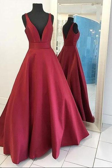 V-neck Prom Dresses,Simple Prom Dress,Cheap Prom Dresses,Long Prom Dresses,Satin Prom Dress,Prom Dresses For Teens,Long Plis Size Prom Dresses,Backless Prom Dresses,Evening Dresses,High Low Prom Gowns,Party Dresses