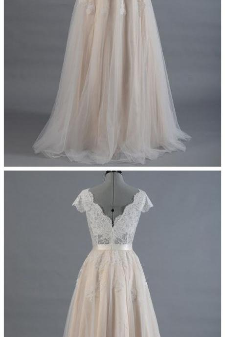 Long wedding Dresses,Lace wedding Dress,Illusion Prom Dress,Fashion Bridal Dresses,Sexy Party Dress, New Style Evening Dress
