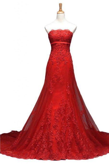 Red Lace Prom Dresses,Applique Prom Dress,Bodycon Prom Dress,Fashion Prom Dress,Sexy Party Dress, New Evening Dress,evening dresses,formal dresses