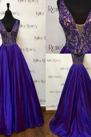 Royal Blue Prom Dress,Ball Gown Prom Dress,Satin Prom Gown,Backless Prom Dresses,Sexy Evening Gowns,Evening Gown,Party Dress,Satin Formal Gowns For Teens